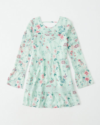 kids chiffon peasant dress