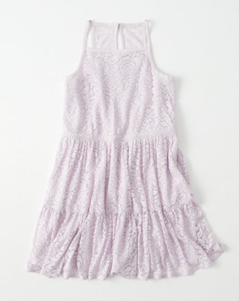 kids lace tiered dress