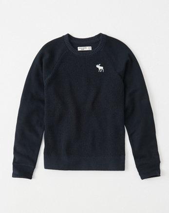 kids mixed fleece icon sweater