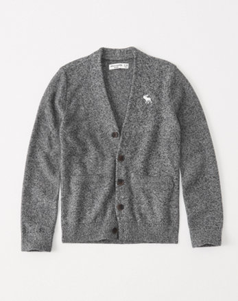 kids icon button-up cardigan