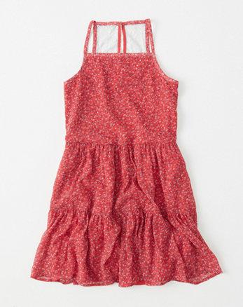 kids chiffon tiered dress