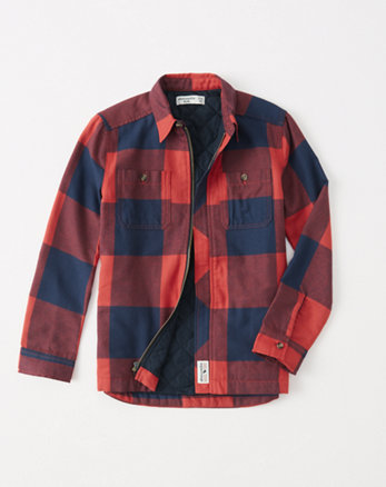 kids lightweight flannel shirt jacket