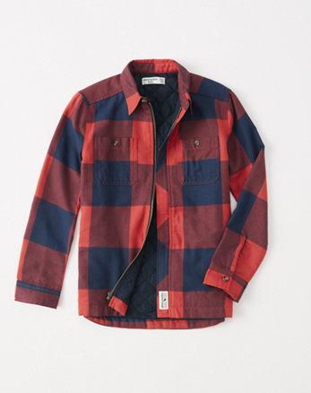 kids flannel shirt jacket