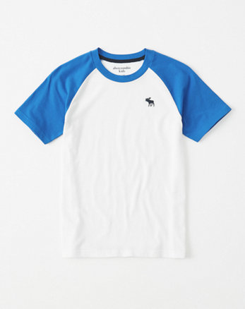 kids icon crew neck raglan tee