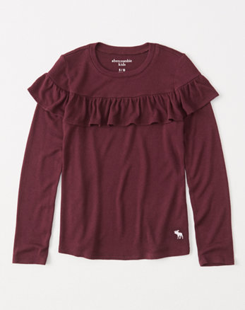 kids cozy ruffle icon tee