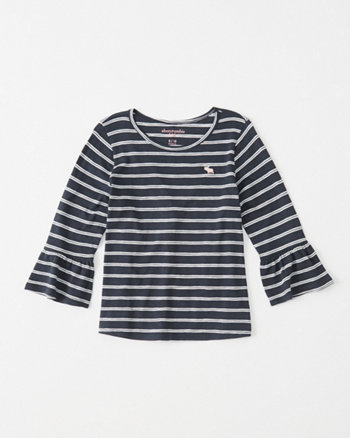 kids ruffle-sleeve icon tee