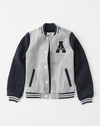 kids varsity bomber jacket