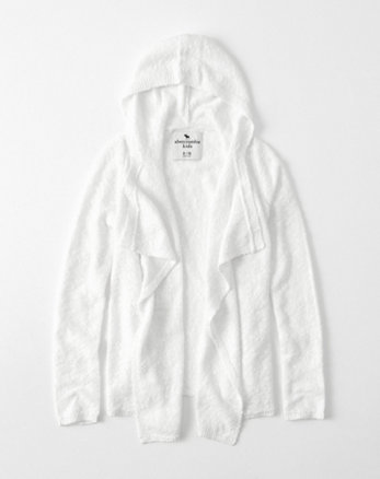kids textured long cardigan