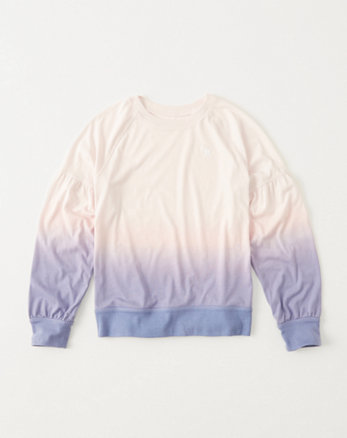 kids puff-sleeve crew tee