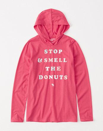 kids shine graphic hoodie tee