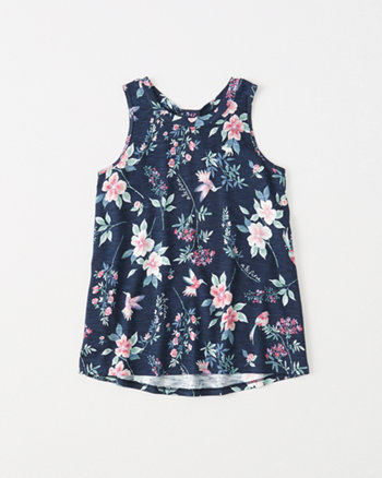 kids bow-back tank