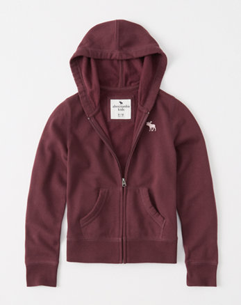 kids icon fleece full-zip hoodie