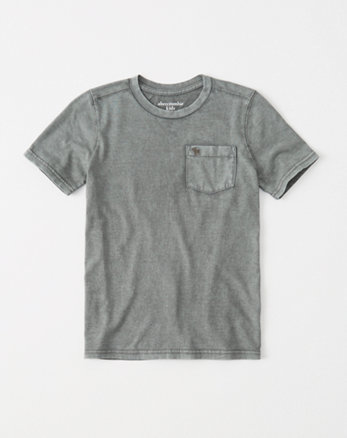 kids garment dye pocket tee