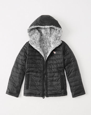 kids reversible puffer jacket