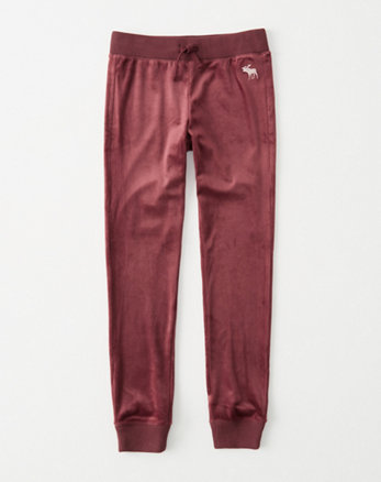kids velour leggings
