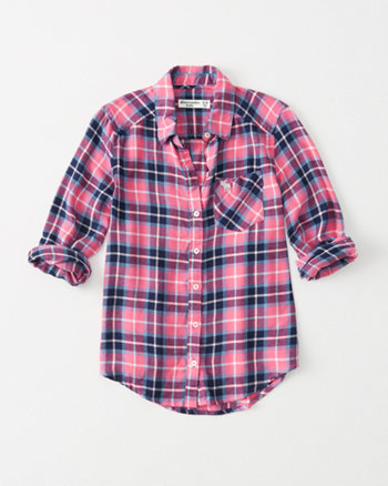 kids plaid button-up shirt