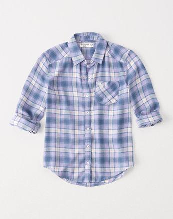 kids plaid button-up shirt