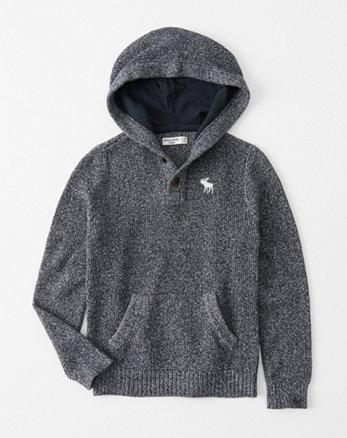 kids chunky-knit sweater hoodie