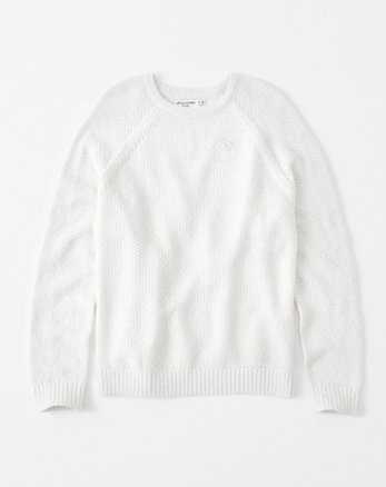 kids shine textured icon pullover