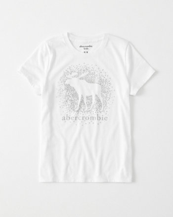 kids shine logo graphic tee