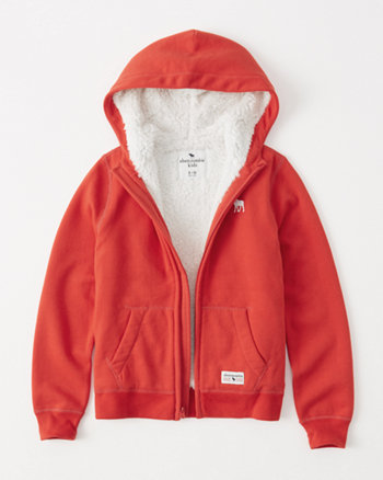kids sherpa-lined icon hoodie