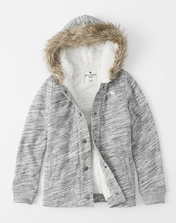 kids sherpa-lined jacket