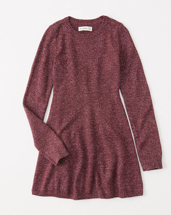 kids shine sweater skater dress
