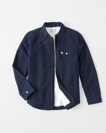 kids sherpa-lined shirt