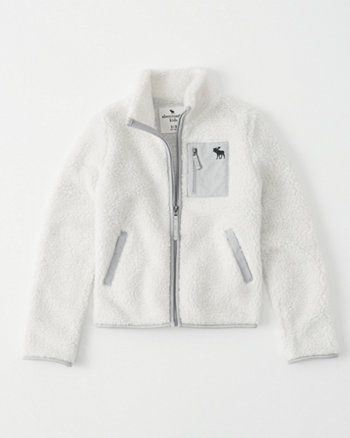 kids full-zip sherpa jacket