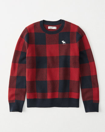 kids intarsia crew sweater
