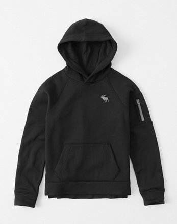 kids zip-pocket icon hoodie