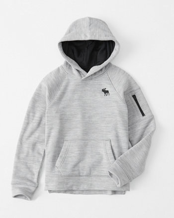 kids zip-pocket icon hoodie
