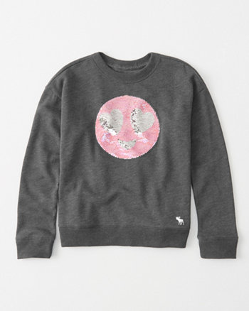 kids flip sequin pullover