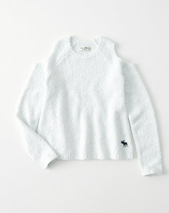 kids cozy cold-shoulder pullover