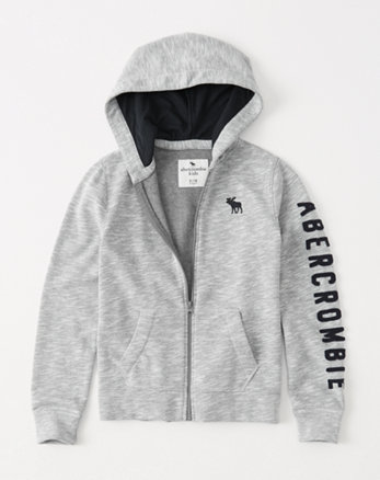 kids logo fleece full-zip hoodie