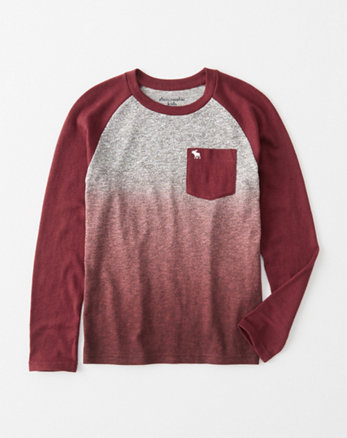 kids dip-dye sweater knit raglan tee