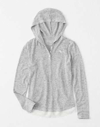 kids cozy henley hoodie