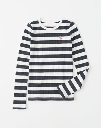 kids striped ribbed icon tee