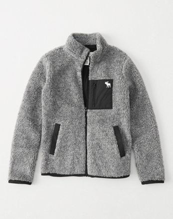 kids sherpa full-zip jacket