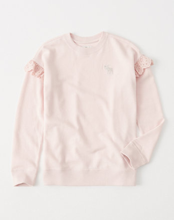kids ruffle-sleeve icon pullover