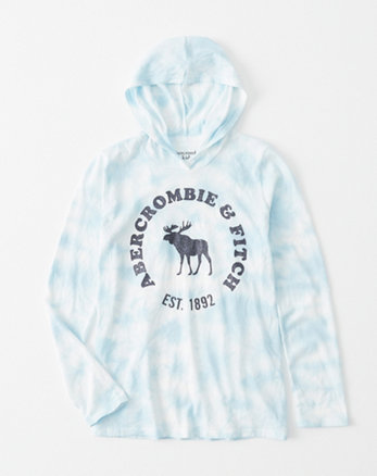 kids tie-dye graphic hoodie