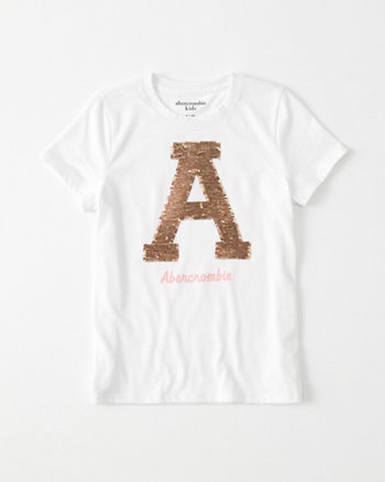 kids flip sequin tee