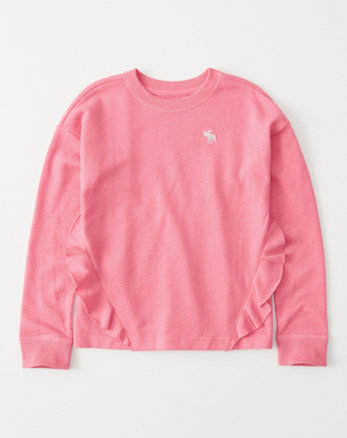 kids ruffle-front icon pullover