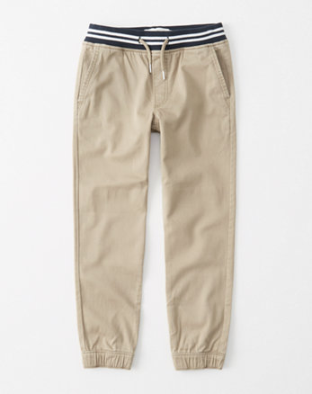 kids striped-waist joggers