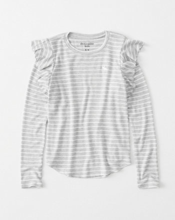 kids cozy ruffle-sleeve icon tee
