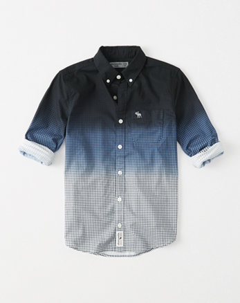 kids patterned button-up shirt