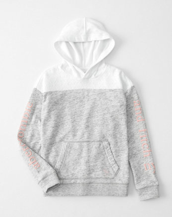 kids lace logo graphic hoodie