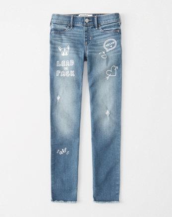 kids doodle pull-on jean leggings