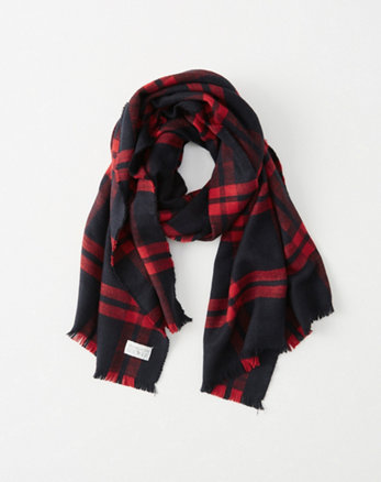 kids plaid blanket scarf