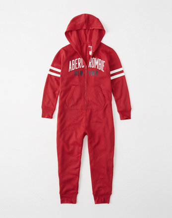 kids logo sleep onesie